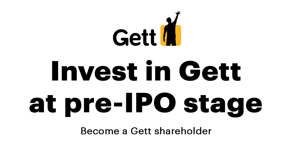 Invest in tokenized Gett shares, security tokens at pre-IPO